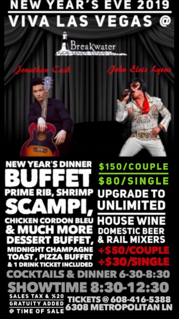 join us new year s eve as breakwater presents viva las vegas dinner
